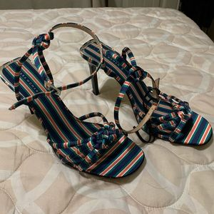 Zara Striped Sandal Heels